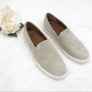 Frye Camille Slip Ons Fawn Suede Sz 8